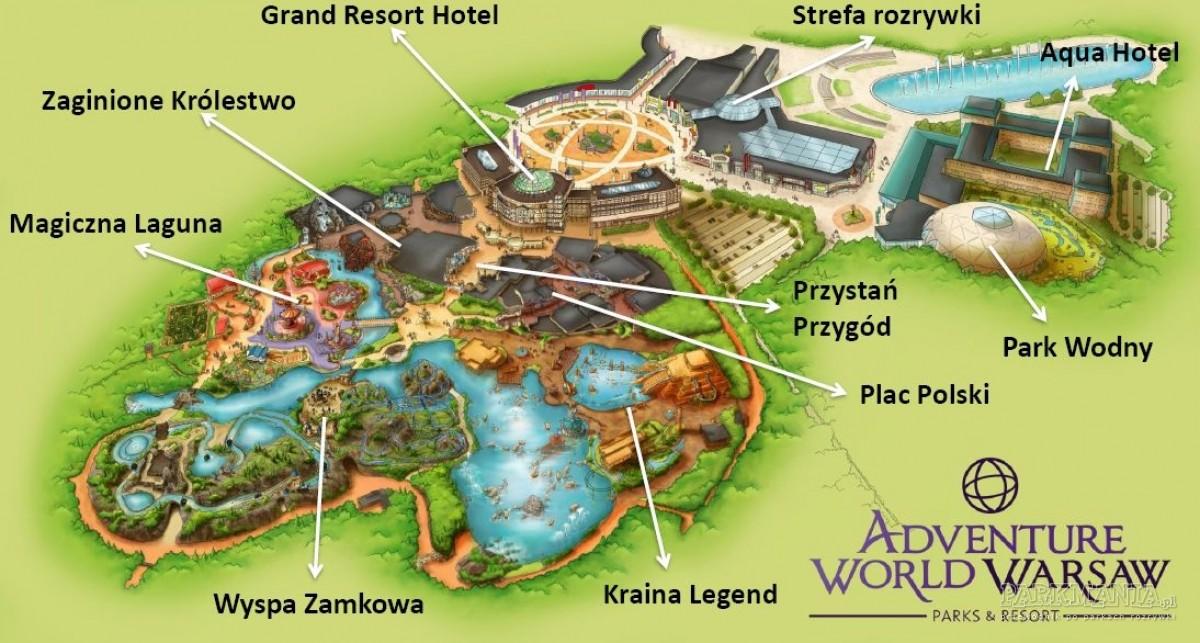 [WIDEO] Zobacz Adventure World Warsaw z lotu ptaka