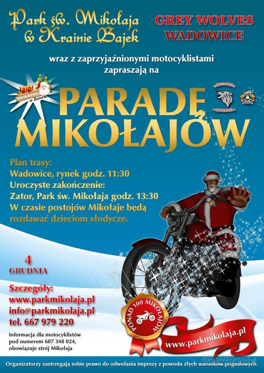 Parada Mikołajów w Parku Świętego Mikołaja w Zatorze