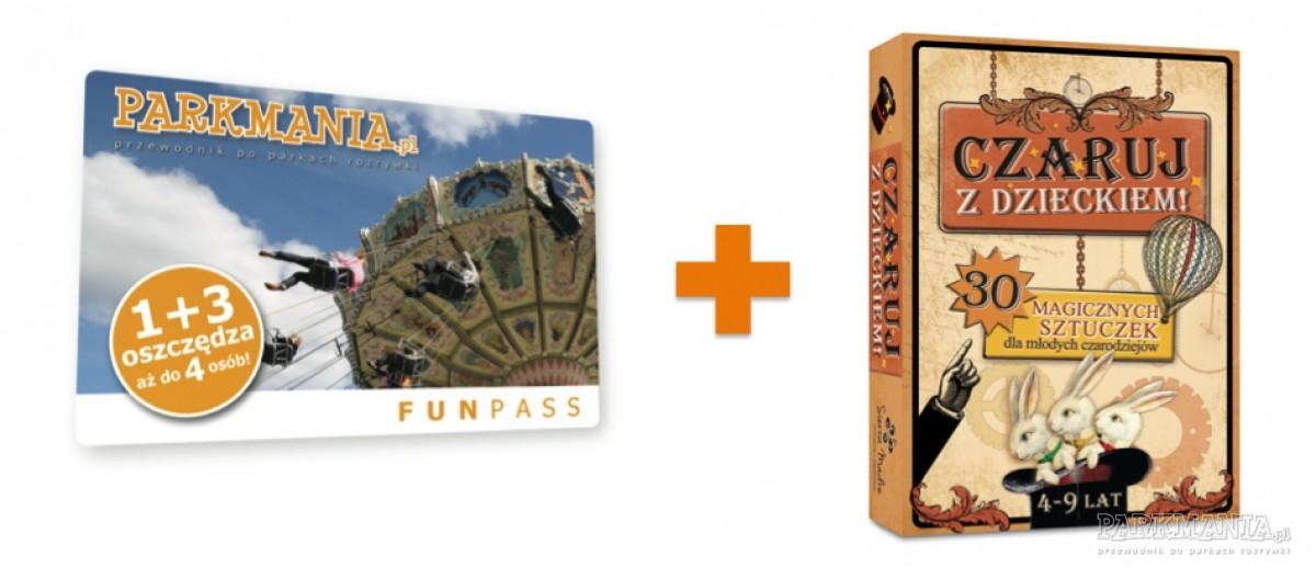 Karta Funpass z grą Czaruj z dzieckiem GRATIS. Idealna na jesienne wieczory!