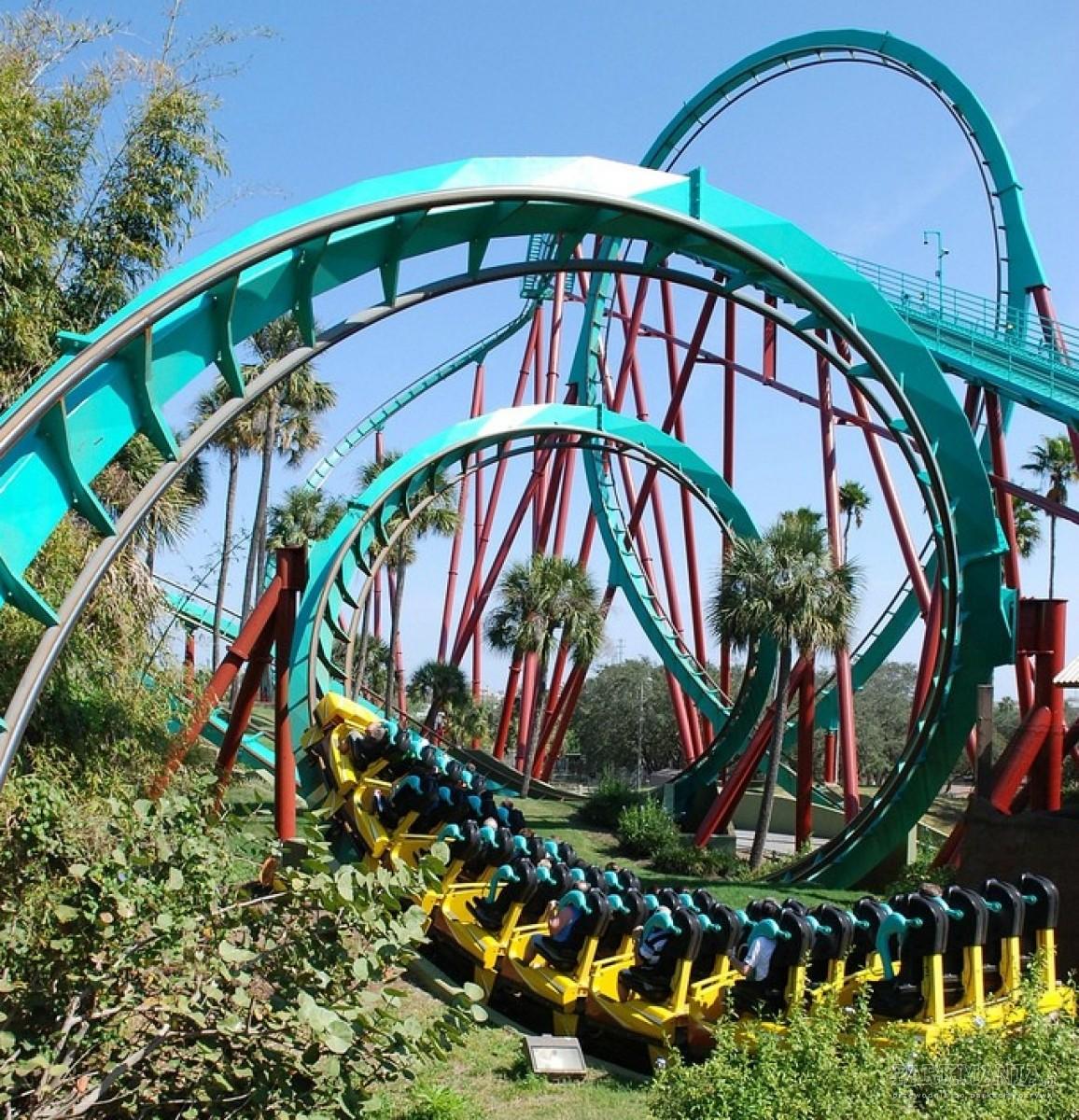 TOP 8: Roller coastery z największą liczbą inwersji
