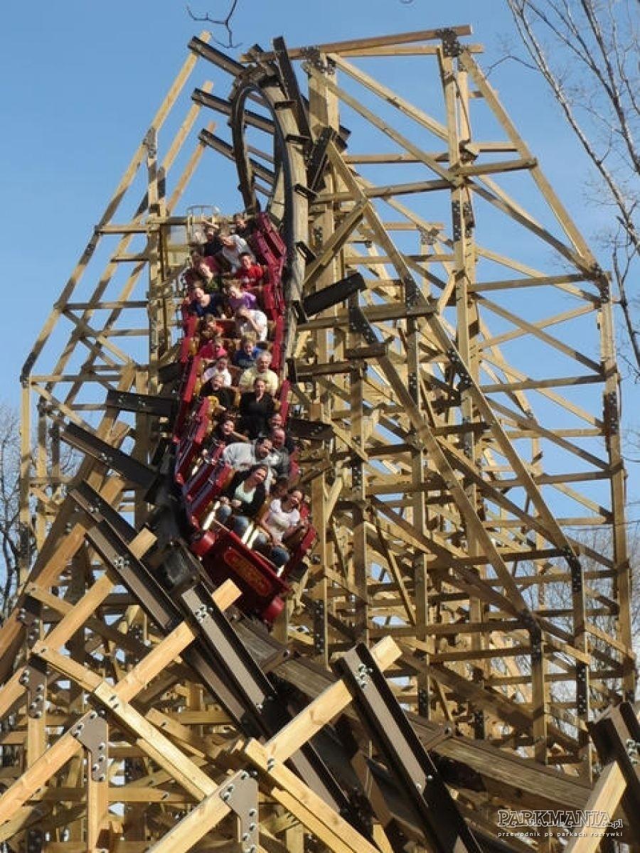 Drewniane roller coastery z inwersjami