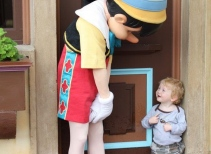 Pinocchio at Pinocchio Village Haus in Fantasyland